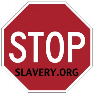 Stop Slavery Sign