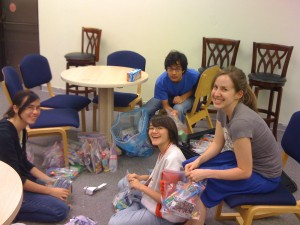 Making Care Packages for those who are threatened, oppressed, enslaved and abused by the Burma Military Regime